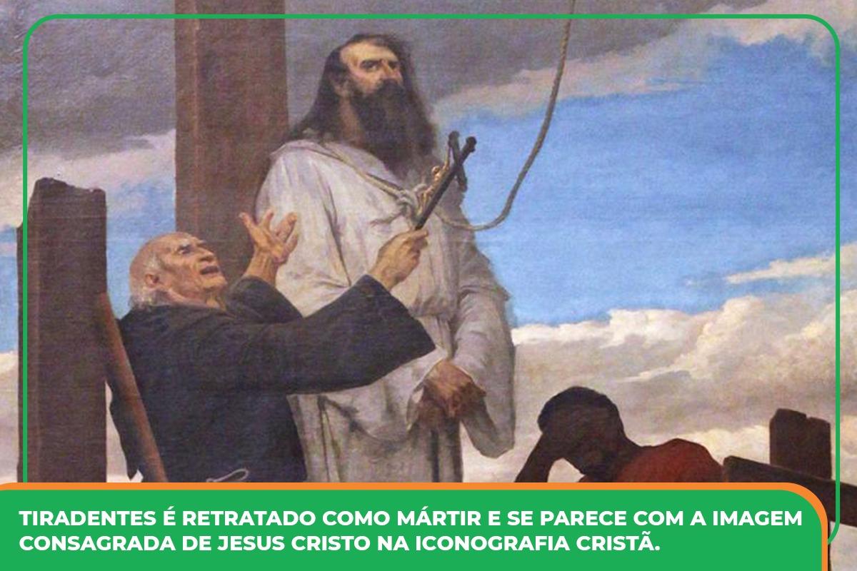 """""""O martírio de Tiradentes"""", Aurélio de Figueiredo, 57 x 45 cm, 1893, Museu Histórico Nacional, RJ"""